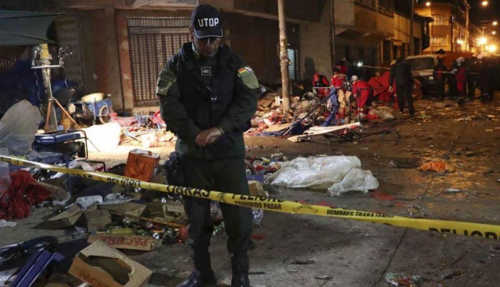explosión en carnaval de bolivia