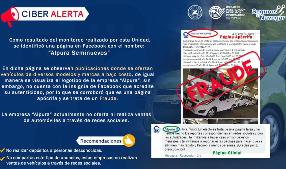 fraude venta de autos alpura seminuevos
