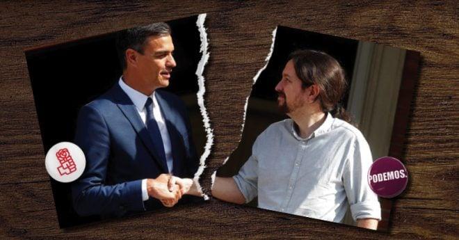 El acuerdo de Gobierno entre las izquierdas españolas dio por rotas las negociaciones con Unidas Podemos