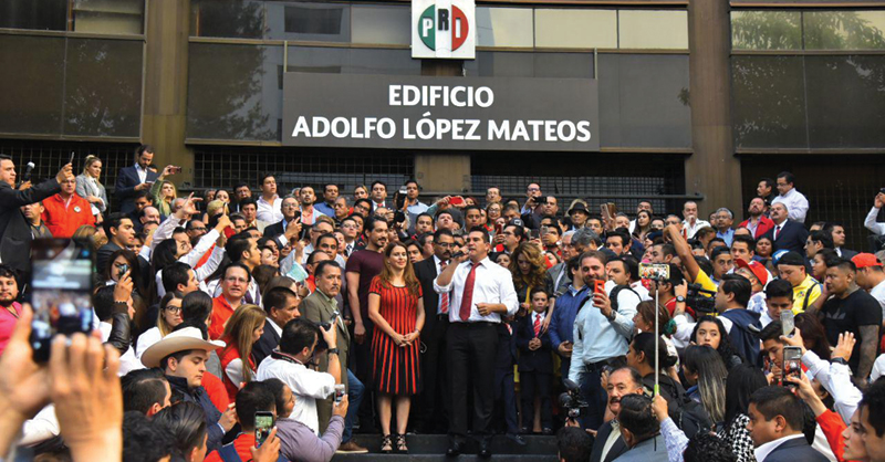 Alejandro Moreno Cárdenas deslindó al tricolor de Rosario Robles