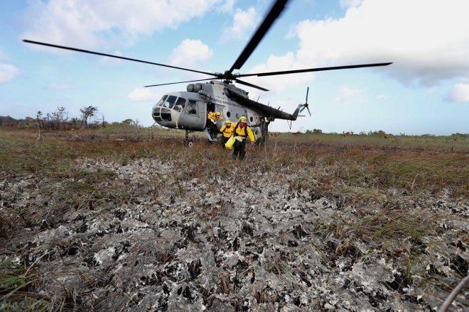 El Equipo Estatal de Manejo de Incidentes trabaja en incendio en Uaimil