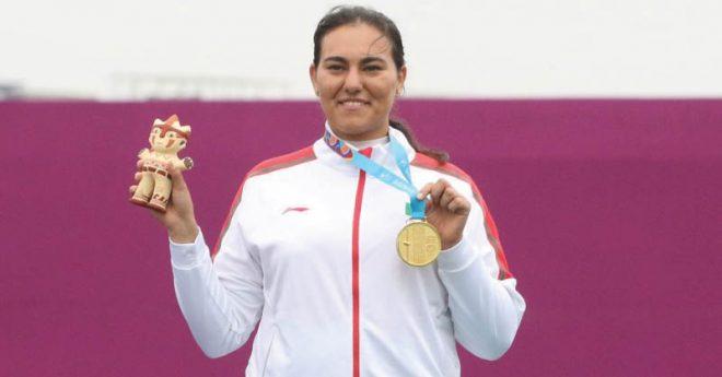 Alejandra Valencia se colgó la medalla de oro 37 en tiro con arco para México