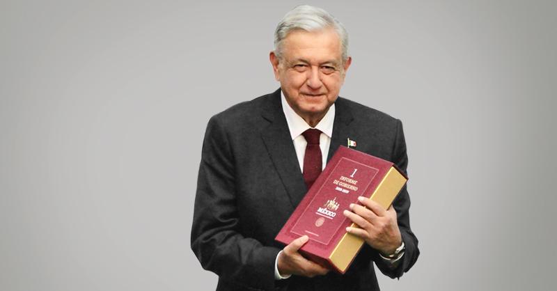 AMLO, presidente de la República, ofreció su Primer Informe oficial de Gobierno