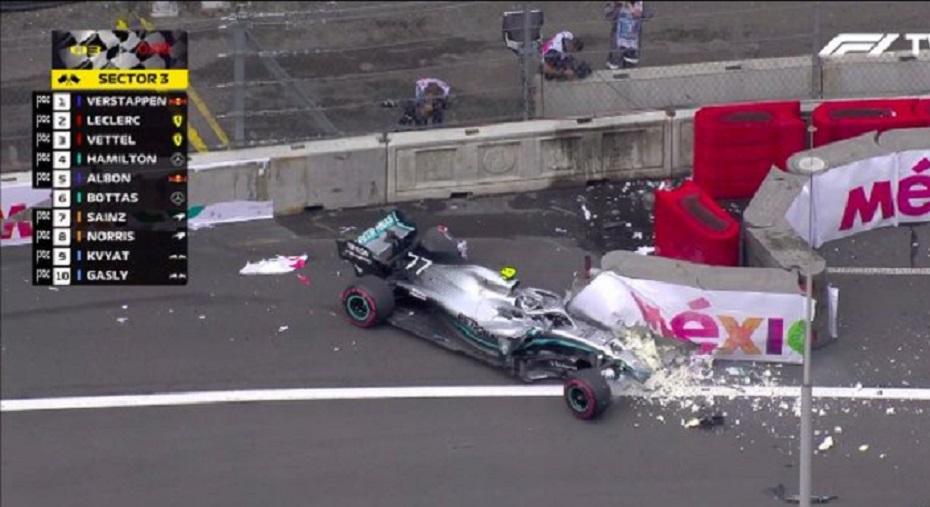 Choque de Bottas en F1