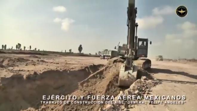 Sedena presume primeras imágenes de construcción en Santa Lucía