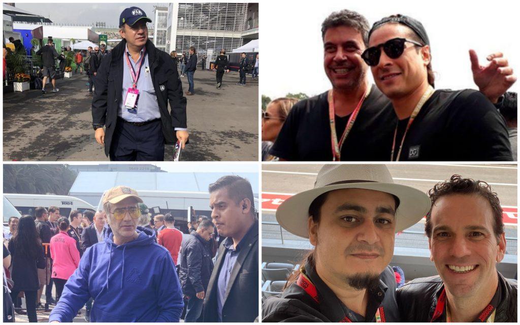 Calderón, Loret, El Potrillo y Ochoa, presentes en GP de México