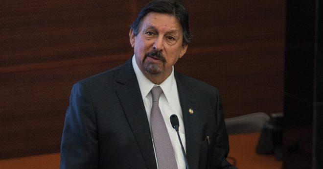 Napoleón Gómez, líder del Sindicato Nacional de Trabajadores Mineros Metalúrgicos y Similares de la República Mexicana