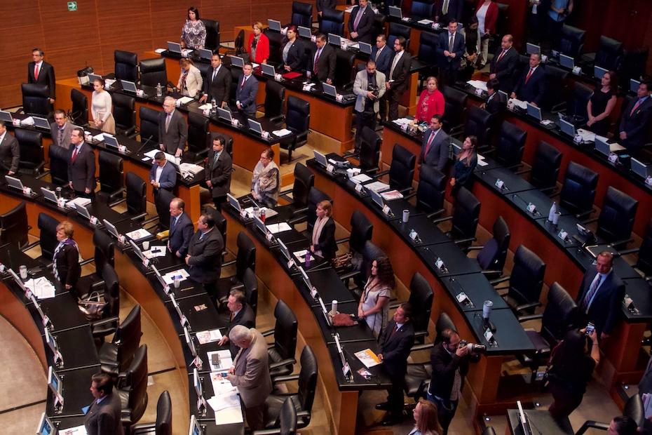 Senadores del PAN van contra reducción presupuestal a partidos, CNDH