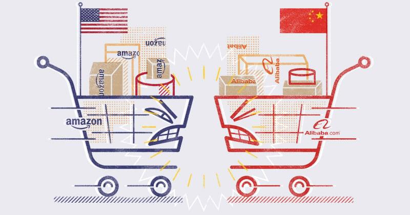 Supremacía por el e-commerce entre Amazon y Alibaba