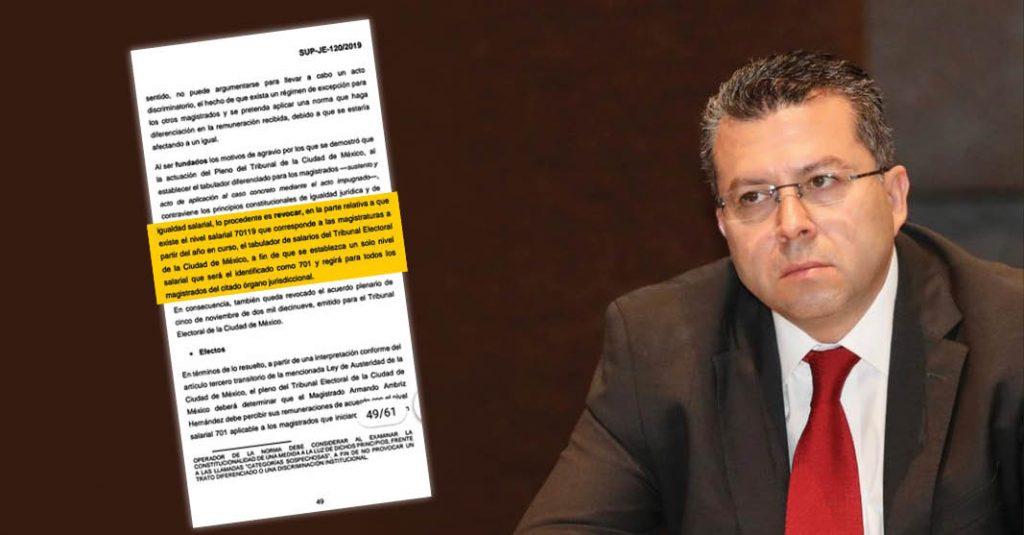 Magistrado electoral Armando Ambriz impugna salario, recibirá 152 mil pesos mensuales