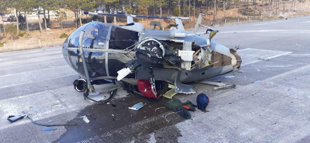 Helicóptero de la Sedena se desploma en Chihuahua