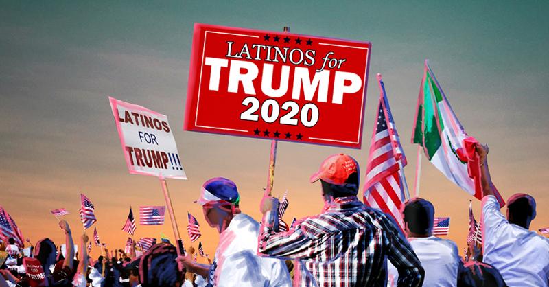 Latinos hacen campaña en favor de la reelección del presidente Donald Trump