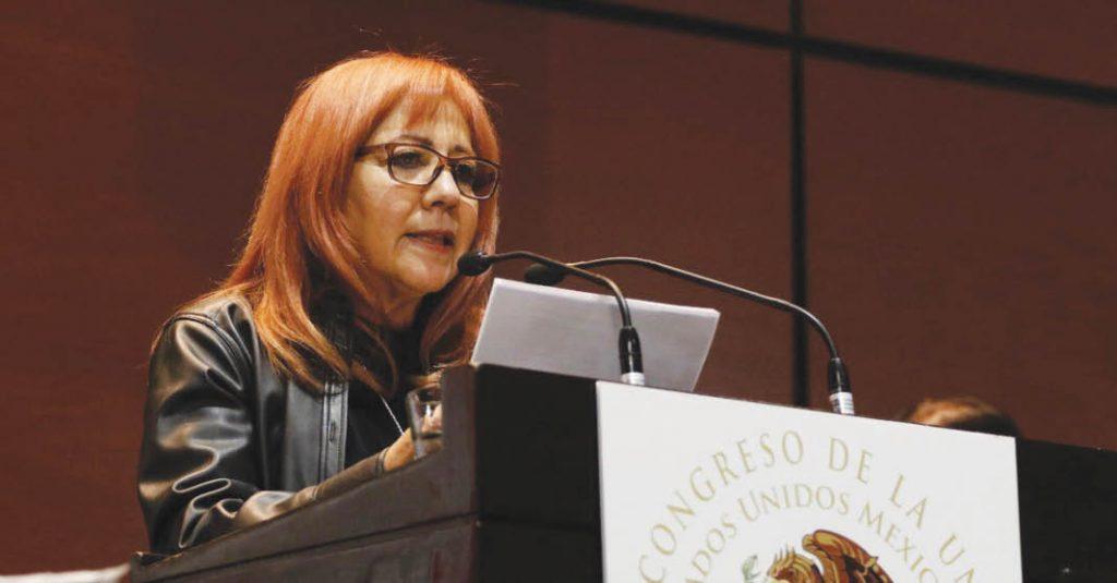 Rosario Piedra, evadió dar respuesta a las críticas de la oposición