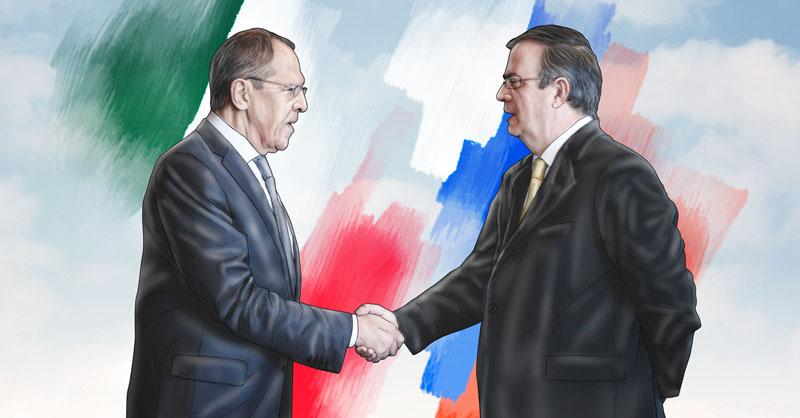 Marcelo Ebrard y el ministro de Exteriores de Rusia Serguéi Lavrov se reunieron este jueves