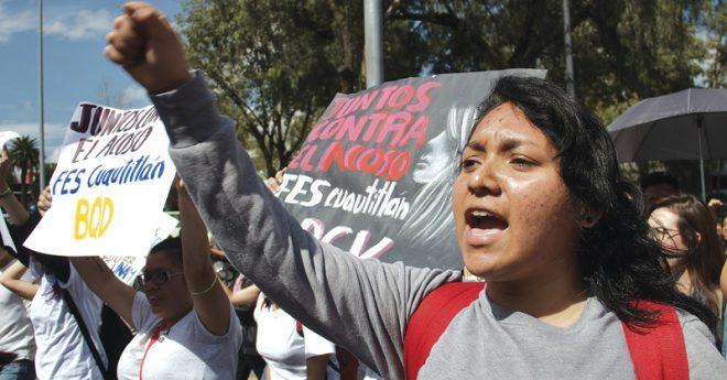 Alumnos de La Facultad de Estudios Superiores Cuautitlán Campo 1 fueron los primeros en iniciar un paro por la violencia de género que se vive al interior de las aulas