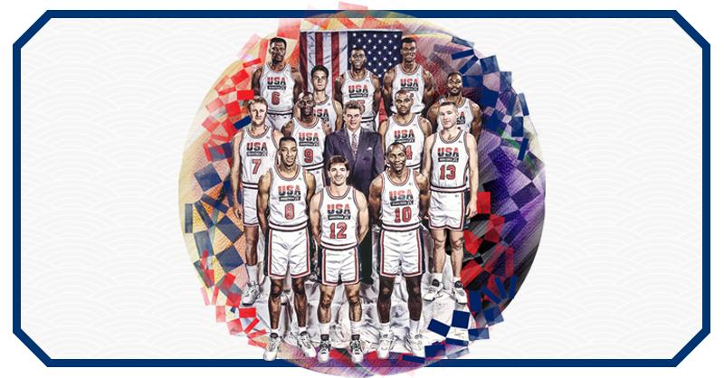 Plagado de estrellas de la NBA, el equipo de Estados Unidos acudió a Barcelona 92