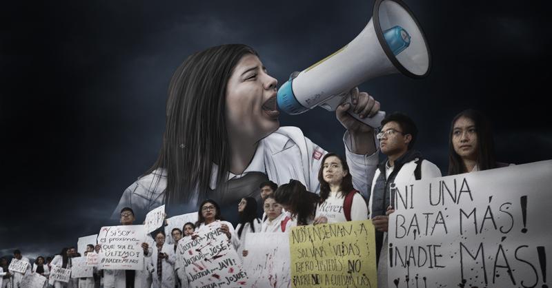Estudiantes de medicina salieron una vez más a las calles