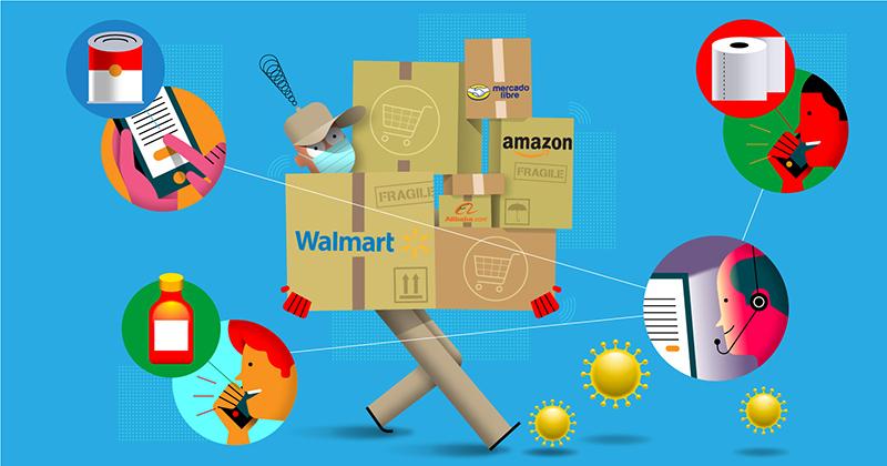 Los gigantes del e-commerce se enfrentan a una prueba histórica por la pandemia