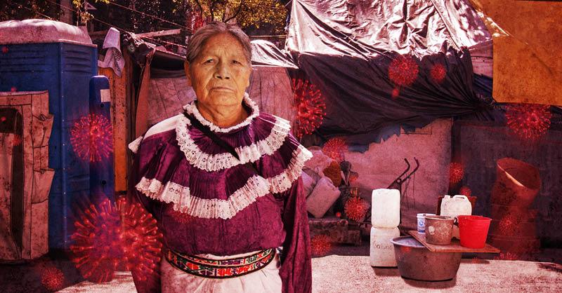 En el centro de la Ciudad de México hay un asentamiento de indigenas sin protección