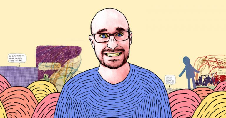 Óscar Alonso es el ilustrador español que, como pasatiempo, realiza una viñeta diaria