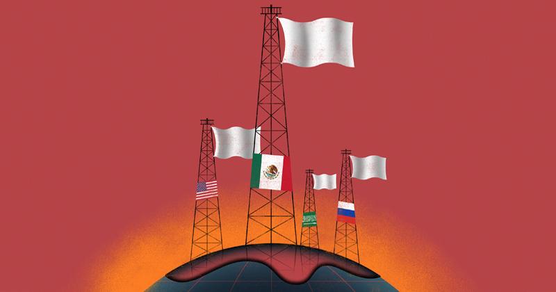 La OPEP+ dejará de llevar al mercado 9.7 millones de barriles diarios de petróleo