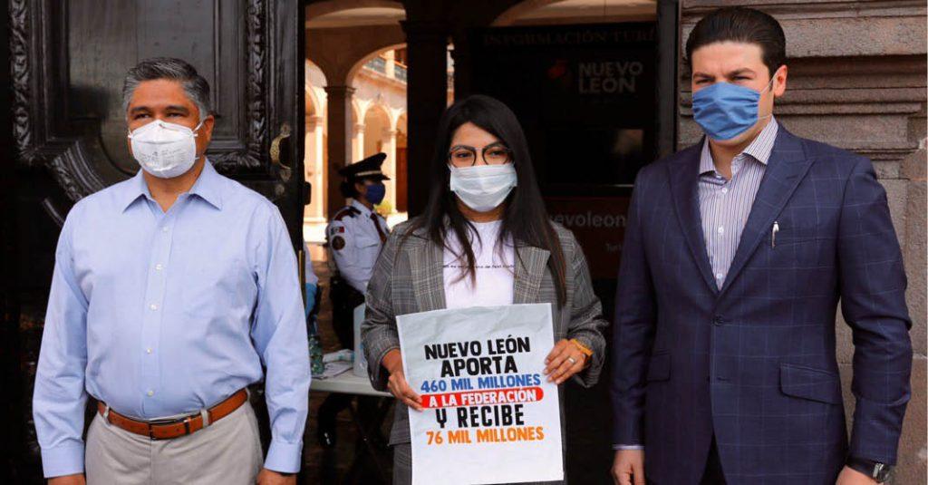 Los tres senadores por Nuevo León se unieron para intentar modificar el pacto fiscal