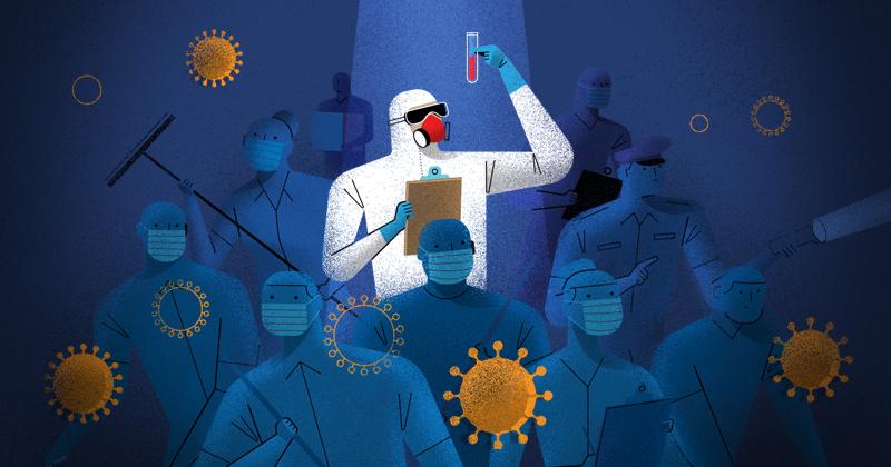 Trabajadores de intendencia, camilleros y asistentes administrativos de los hospitales