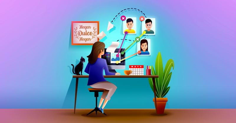 El home office se convirtió en la alternativa de las empresas