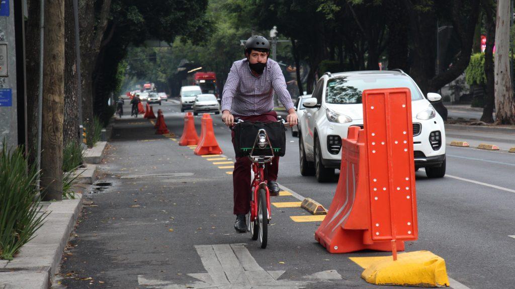 Pide el Congreso de la CDMX la permanencia de la ciclovía emergente en Insurgentes