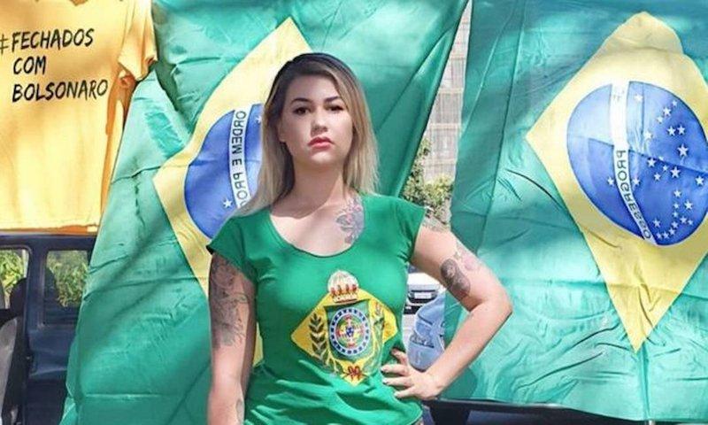 Sara Winter fue arrestada por protestar y amenazar al Supremo Tribunal Federal de Brasil