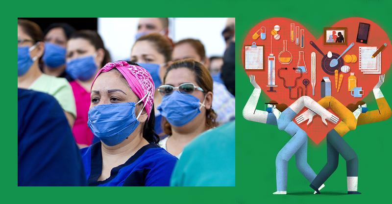 Trabajadoras de la salud, estar en la primera línea de batalla en contra del coronavirus