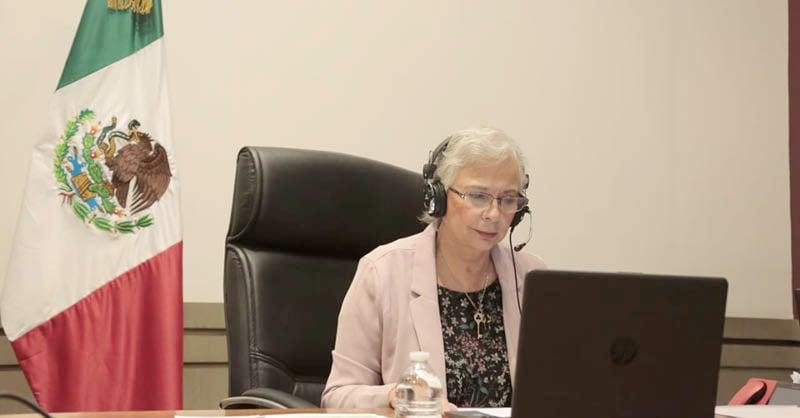 Olga Sánchez Cordero, afirmó que uno de los retos principales del gobierno de México es lograr presupuestos con perspectiva de género