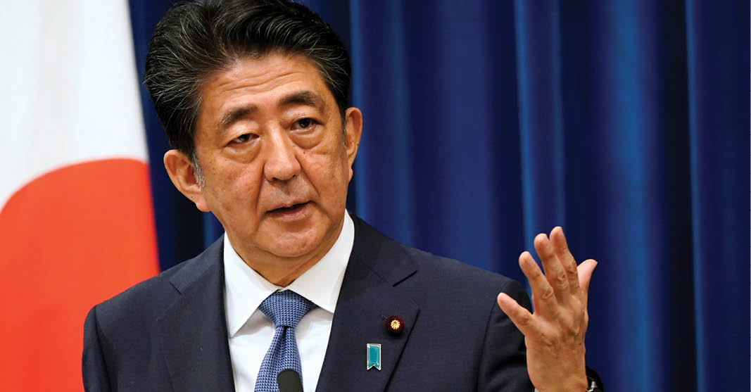 Shinzo Abe, primer ministro de Japón, fue derrocado por una enfermedad