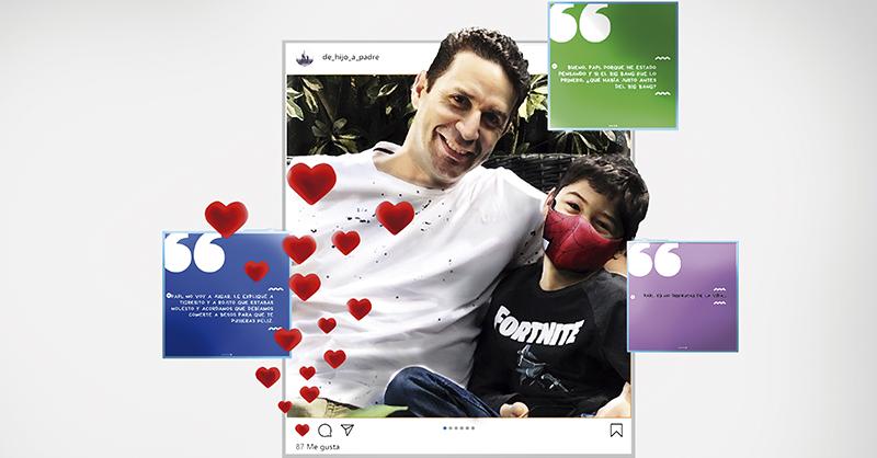 Desde su cuenta de Instagram, De hijo a padre, Omar Martínez ha compartido algunas de las anécdotas