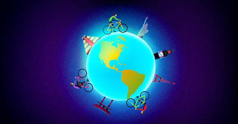 La adopción de bicicletas en las ciudades del mundo puede constituir una forma eficiente y confiable para desplazarse