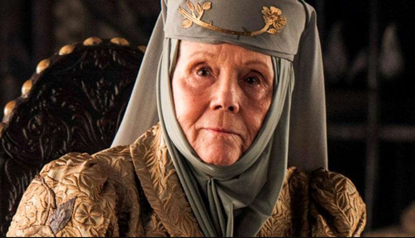 Muere Diana Rigg, Olenna Tyrrel en 'Game of Thrones'