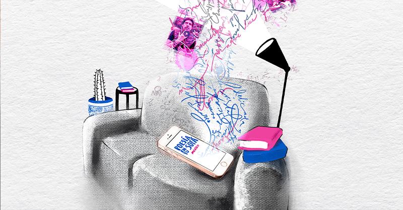 Diferentes artistas se reúnen en la cuenta de Instagram Poesía en tu sofá para leer un poema