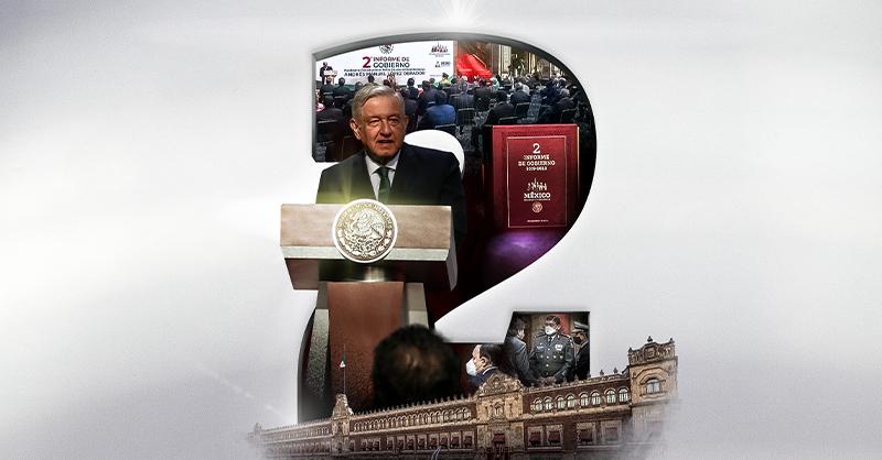 Andrés Manuel López Obrador rindió su Segundo Informe de Gobierno con el compromiso de que no le fallará al pueblo