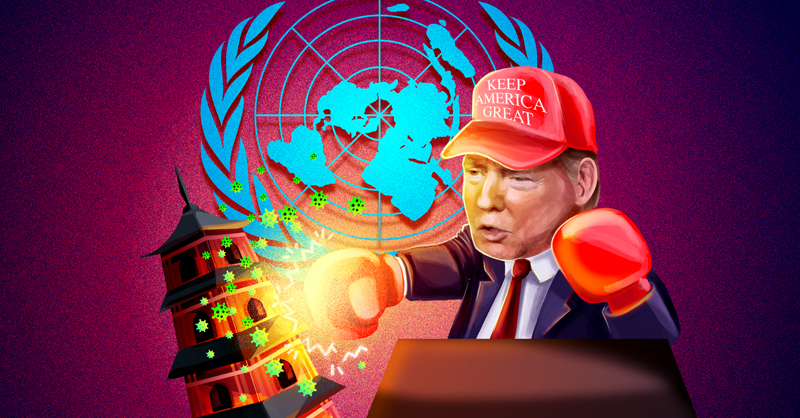 El presidente Donald Trump lanzó un golpe contra el gobierno de China