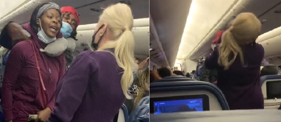 VIDEO: pasajera se niega a usar cubrebocas y golpea a azafata