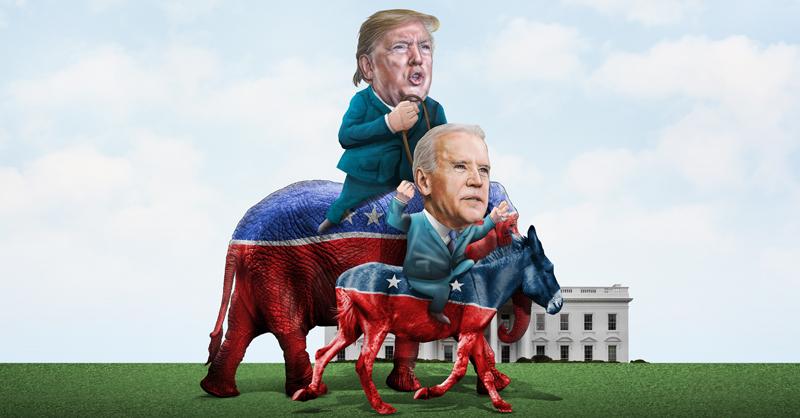 Joe Biden y Donald Trump entraron a la última fase de la carrera por la presidencia