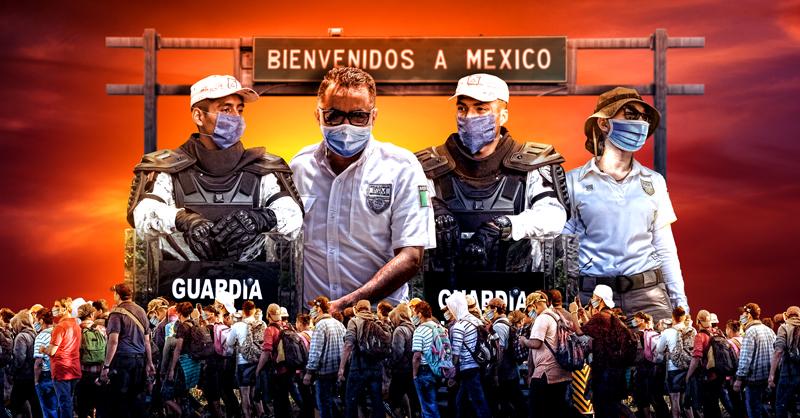 En días recientes autoridades mexicanas desplegaron toda su fuerza para frenar y desmantelar una gran caravana