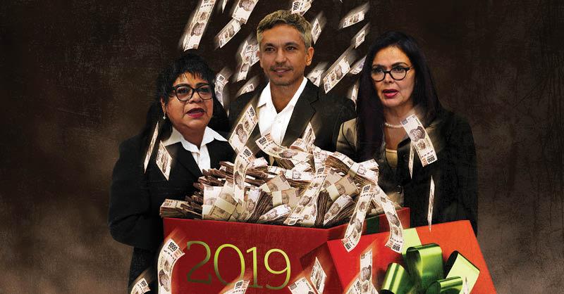 Tres diputados locales incumplieron con su promesa de donar todas las gratificaciones que recibieron en su aguinaldo del 2019