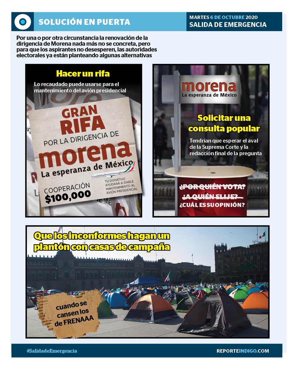 La renovación de la dirigencia de Morena nada más no se concreta