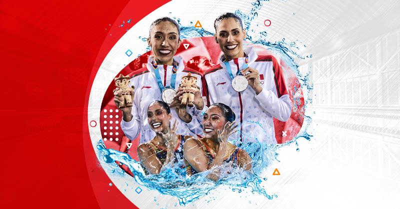 Nuria Diosdado y Joana Jiménez han llevado al nado sincronizado mexicano a competir con las potencias