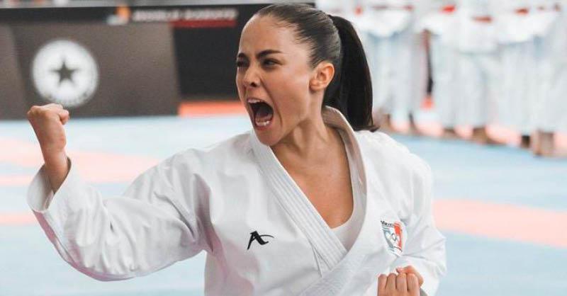 La karateca sonorense Pamela Contreras aprovechó la pandemia