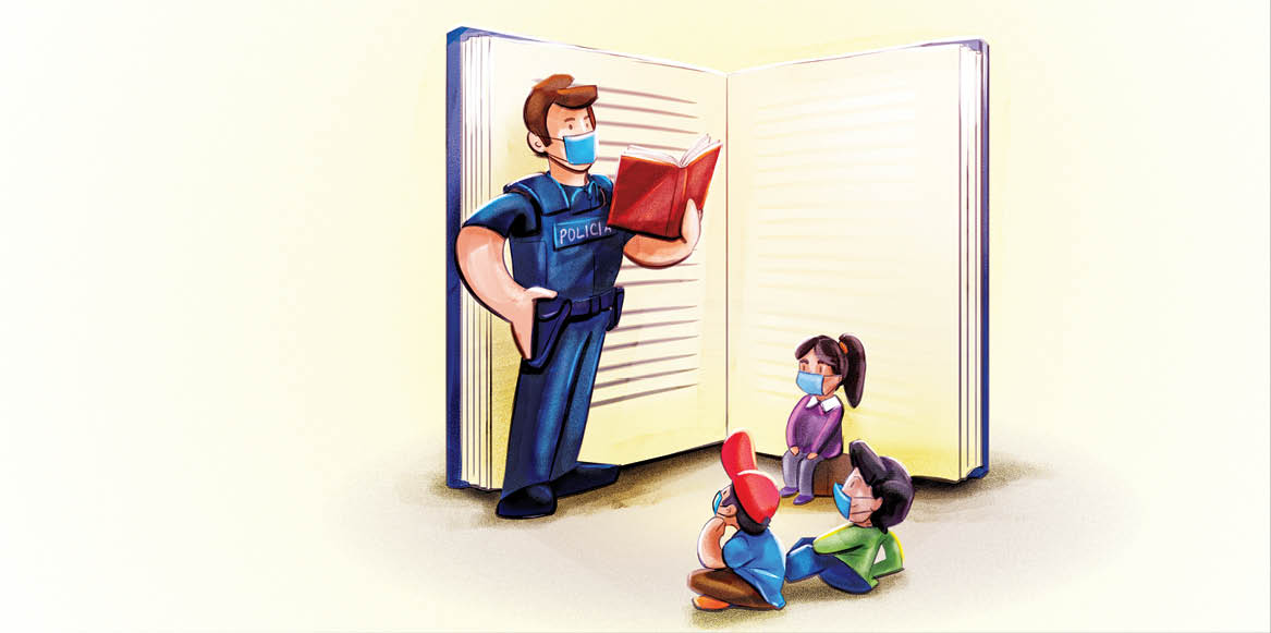 Los policías municipales de Nezahualcóyotl leerán a niños y niñas para que se queden en casa ante la pandemia