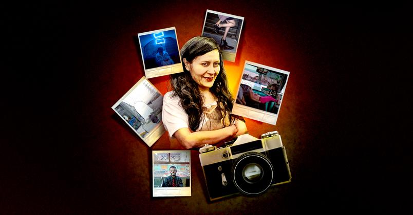 La fotógrafa Sonia Madrigal, originaria de Nezahualcóyotl