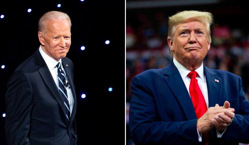 Trump a TV y Biden a la iglesia: así comenzaron la jornada los candidatos presidenciales