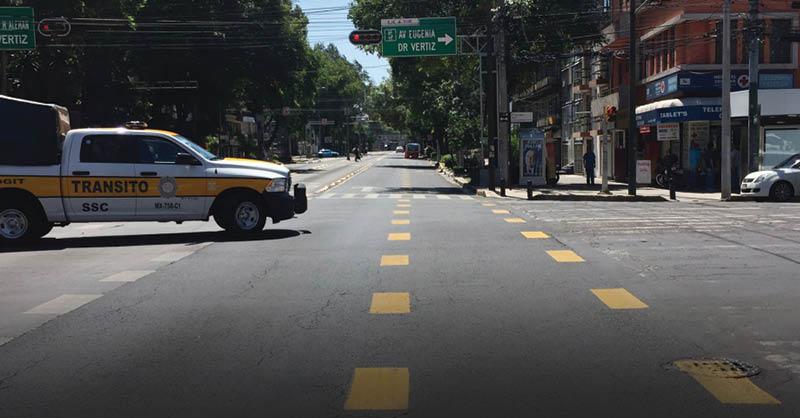 La ciclovía emergente por la pandemia de COVID-19 de Eje 4 Sur ha sido relegada